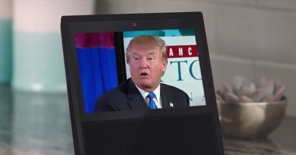 Watch: Meet Amazon Echo's mock edition of Donald Trump. It's almost as terrifying as the real thing