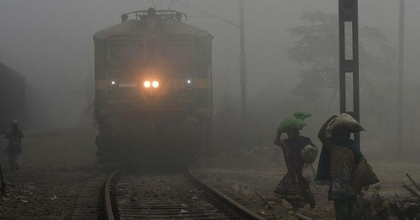 Train and flight services affected as fog engulfs north India