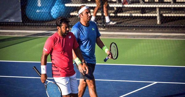 Leander Paes and partner Purav Raja crash out in opening round of Delray Beach Open