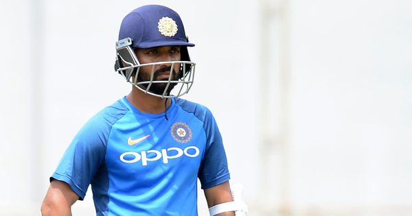 Rahane bats extensively in the nets ahead of India's third Test against South Africa