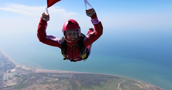 Skydiver Bahareh Sassani determined to hit new heights for Iranian women