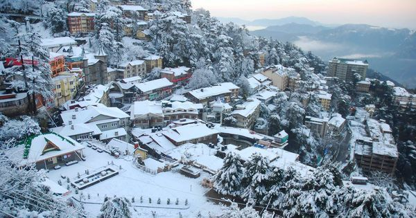 In photos: A white Shimla greets tourists after it receives the season's first snowfall