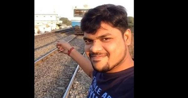 Man gets hit trying to take a selfie video in front of speeding train in Hyderabad