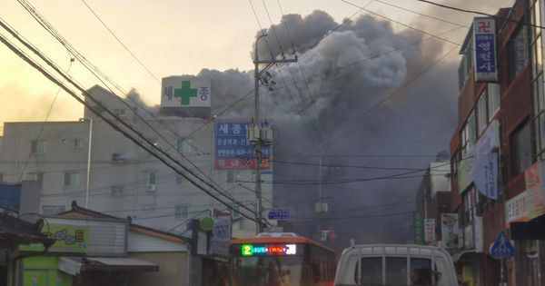 South Korea: At least 37 dead in fire at hospital in Miryang city