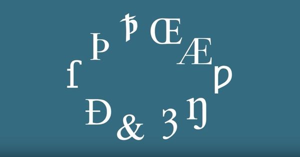 Watch: Did you know there were originally ten more letters in the English alphabet?