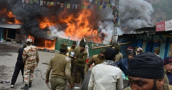 Arunachal Pradesh: Over 45 houses, shops gutted in fire in Dirang market area