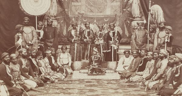From bejeweled maharajas to rebellious soldiers, these 19th-century images document India's history