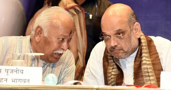 Amit Shah and six Cabinet ministers meet RSS leadership to discuss government policies