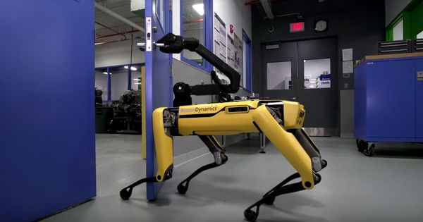 Watch: Boston Dynamics' headless dog-like robot can now open doors (for you or for other robots)