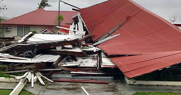 Cyclone Gita: Tonga's Parliament building destroyed as country is hit by worst storm in 60 years