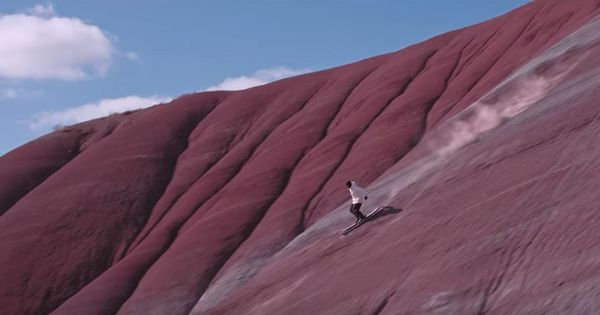 Watch: This man skiied down the Great Wall of China and an active volcano (and much more) for an ad