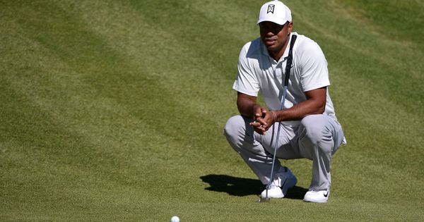 Tiger Woods in joint lead at the midway stage of Tour Championship
