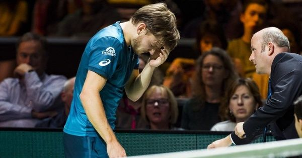 David Goffin retires after ball hits him in the eye, Dimitrov moves into Rotterdam final