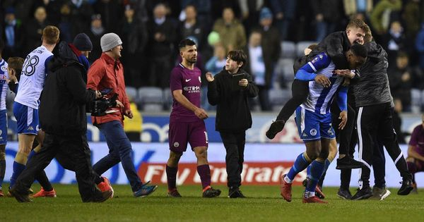 FA expected to investigate Sergio Aguero's clash with invading Wigan fans