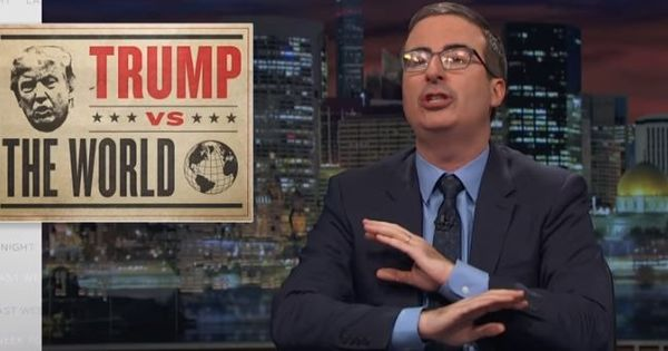 Watch: John Oliver tells the world not to confuse Donald Trump for America