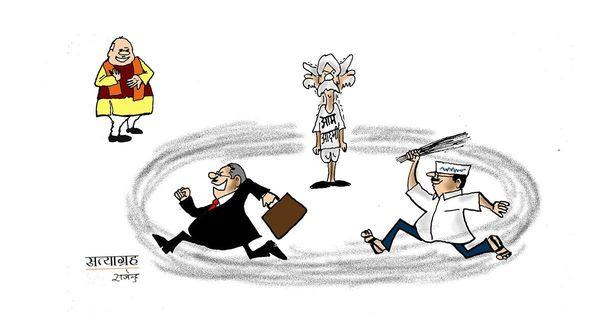 कार्टून : जंग का अजब ढंग