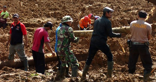 Landslide in Indonesia kills at least seven, 14 reported missing