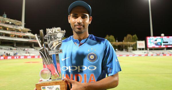 दक्षिण अफ्रीका के खिलाफ टी20 सीरीज में भुवनेश्वर कुमार को टूर्नामेंट का सर्वश्रेष्ठ खिलाड़ी चुना गया