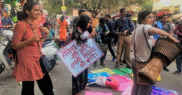 Delhi University students seek police action against perpetrators of semen-filled balloon attacks