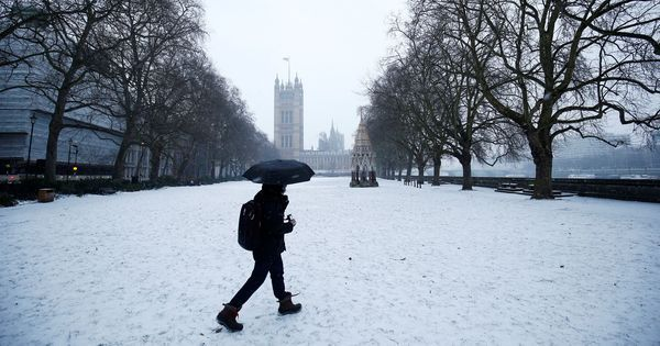In photos: Alert issued in UK before Storm Emma hits