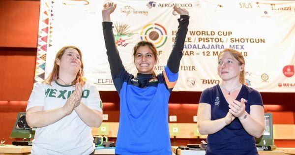 शूटिंग विश्व कप : 16 साल की मनु भाकर ने दूसरा स्वर्ण पदक जीता
