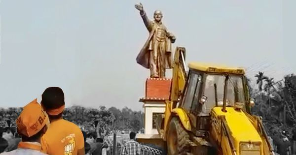 Video: One of the first casualties of the BJP's win in Tripura was a statue of Lenin