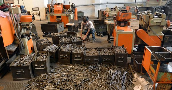 Industrial output growth in November was slowest in 17 months, shows data