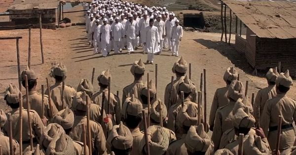 In Richard Attenborough's 'Gandhi', the audacious Dandi March gets a fitting tribute