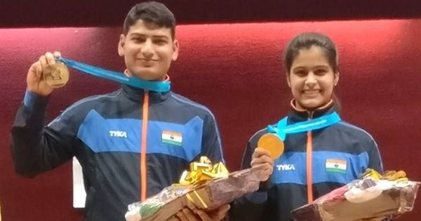 Manu Bhaker and Om Prakash Mitharval make final with world record score at ISSF World Cup