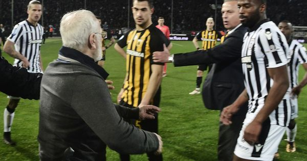 Greek Super League suspended after PAOK owner enters pitch with a gun to confront referee