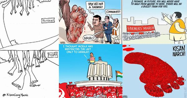 #KisanLongMarch: As protests end, cartoonists remind that promises made to farmers must be kept