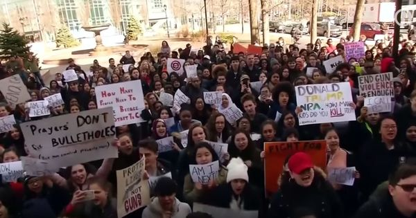 Videos: How thousands of US students marched out of classrooms to demand action against gun violence