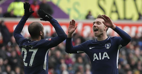 Christian Eriksen scores twice against Swansea to put Tottenham Hotspur in FA Cup semis