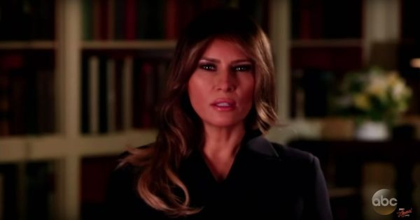 Watch: Jimmy Kimmel gave Melania Trump a reality check with a parody PSA against cyber-bullying