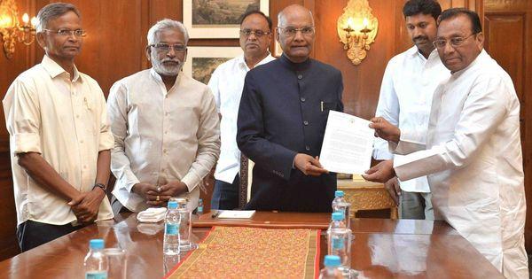 YSR Congress Party urges president to intervene, push Centre to grant Andhra Pradesh special status