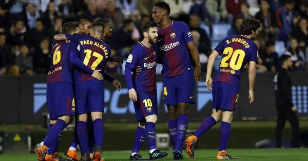 Unbeaten Barcelona escape with a draw at Celta Vigo after going down to 10 men