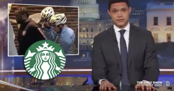 Watch: Trevor Noah takes on Starbucks for arresting two black men in Philadelphia for doing nothing