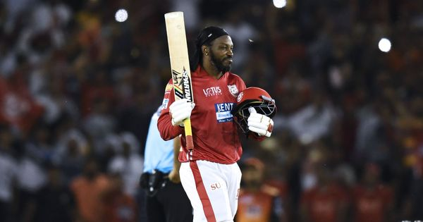 IPL 11: Chris Gayle's 63-ball 104 helps King XI halt Sunrisers' three-match winning streak