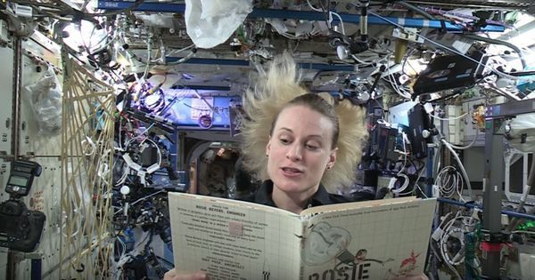 The next time children need bedtime stories, they can watch astronauts reading to them from space