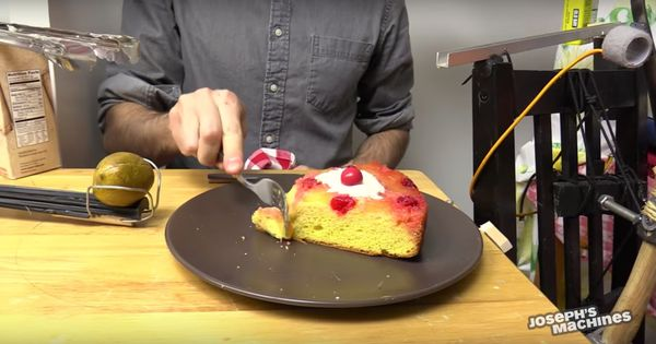 Watch: Want to eat some cake? Let this  extraordinary (and largely useless) machine serve you