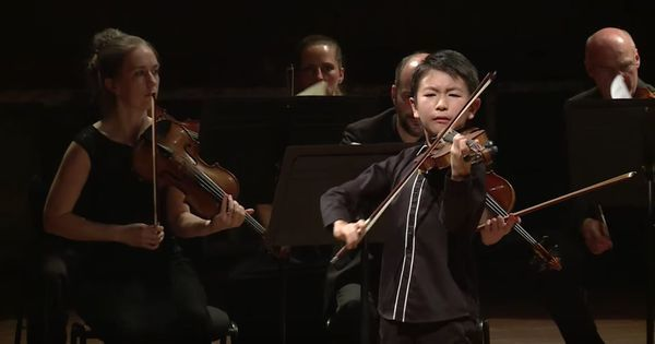 Watch the spectacular performance that won this 10-year-old prodigy the 'violin olympics'