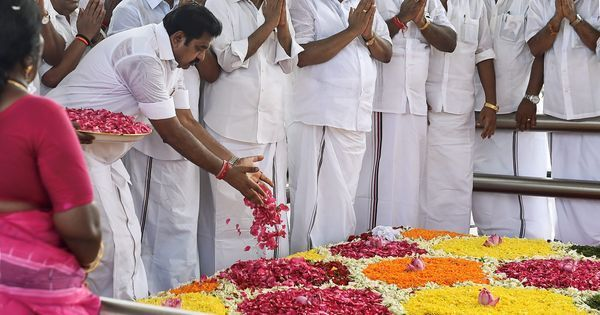 Chennai: DMK opposes Rs 50-crore memorial for Jayalalithaa after CM lays foundation stone