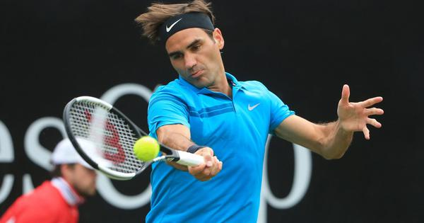 Roger Federer starts quest for 10th title in Halle with an easy win over Aljaz Bedene