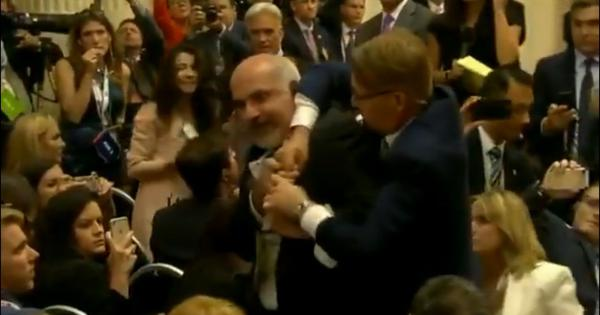 Watch: Reporter is forced out of Trump-Putin press conference after apparent protest