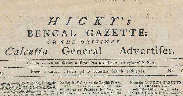 India's first newspaper covered corruption and scandal (and sexual practices) fearlessly