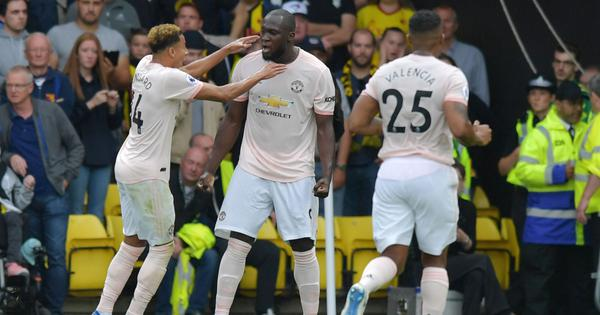 Romelu Lukaku and Chris Smalling's first-half goals give United 2-1 win over Watford