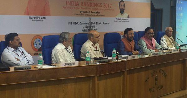 IISc Bangalore wins top spots in HRD Ministry's NIRF rankings