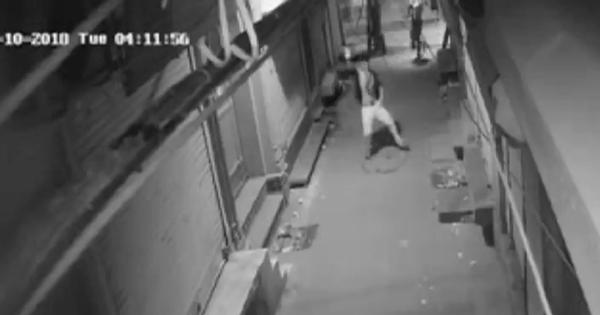 Watch: A thief in Delhi was caught dancing on CCTV before breaking into a shop