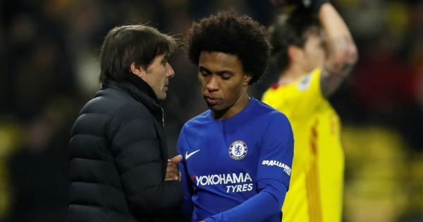 There was 'no chance' I would have played for Antonio Conte, says Chelsea's Willian