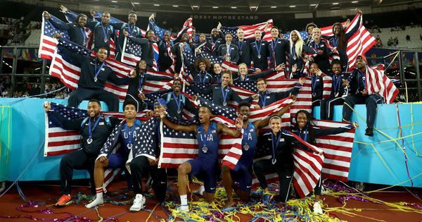 USA finish well ahead of other countries to win the inaugural edition of Athletics World Cup